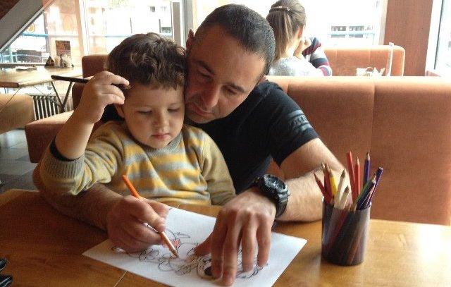 Александр Придверов с сыном