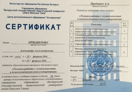 Сертификат директора